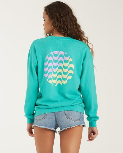 3 Wave Washed Sweatshirt Blue J609VBWA Billabong