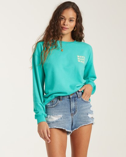 1 Wave Washed Sweatshirt Blue J609VBWA Billabong