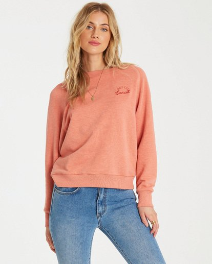 0 Keep Tryin Pullover Orange J609WBKE Billabong