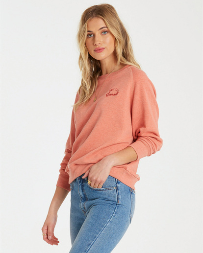 1 Keep Tryin Pullover Orange J609WBKE Billabong