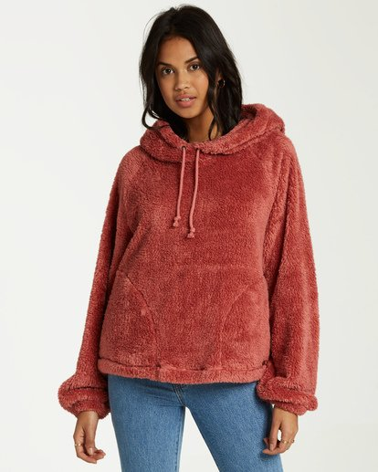 0 Warm Regards Sherpa Hoodie Pink J611VBWA Billabong