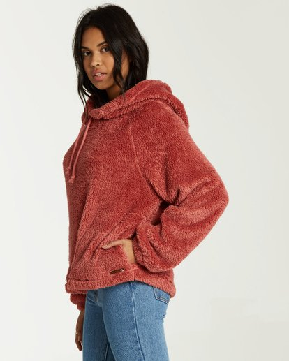 1 Warm Regards Sherpa Hoodie Pink J611VBWA Billabong