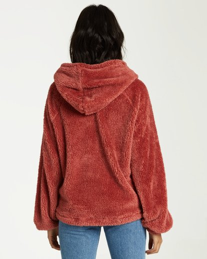 2 Warm Regards Sherpa Hoodie Pink J611VBWA Billabong