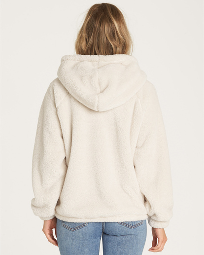4 Warm Regards Sherpa Fleece Hoodie White J611VBWA Billabong