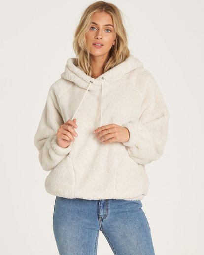 1 Warm Regards Sherpa Fleece Hoodie White J611VBWA Billabong
