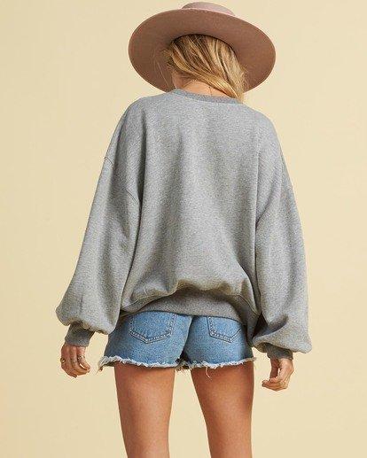 2 Salty Blonde Vacation Mode Sweatshirt Grey J6143BVA Billabong