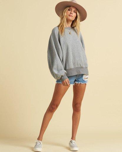3 Salty Blonde Vacation Mode Sweatshirt Grey J6143BVA Billabong