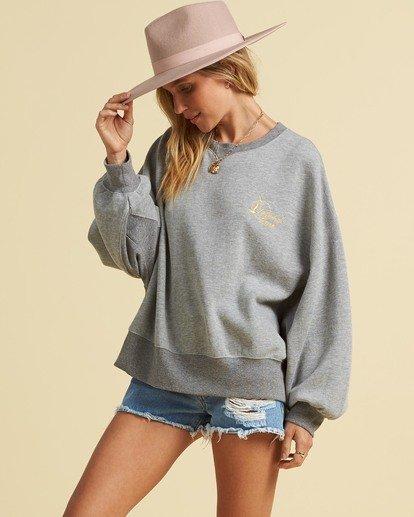 1 Salty Blonde Vacation Mode Sweatshirt Grey J6143BVA Billabong