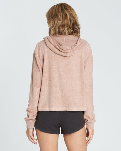 2 Short Story Fleece Hoodie Beige J620QBSH Billabong