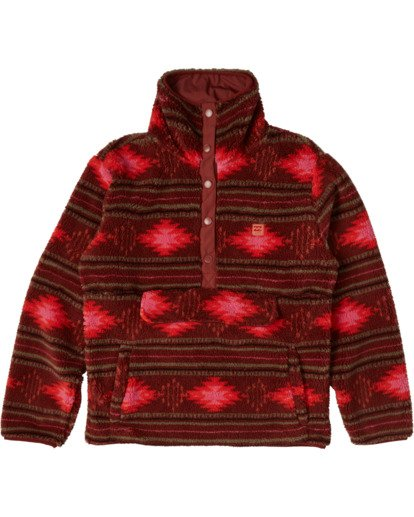 7 A/DIV Switchback Pullover Fleece Brown J6211BSW Billabong