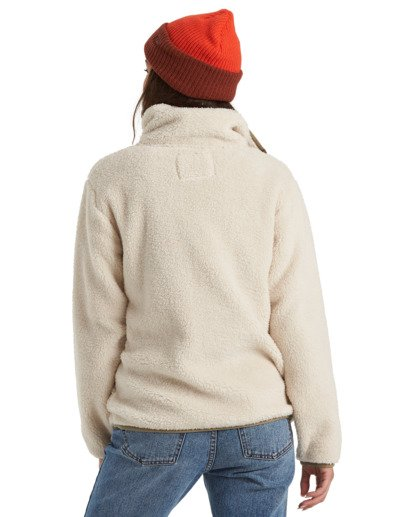 6 A/DIV Switchback Pullover Fleece White J6211BSW Billabong