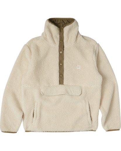5 A/DIV Switchback Pullover Fleece White J6211BSW Billabong