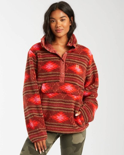 0 A/DIV Switchback Pullover Fleece Brown J6211BSW Billabong