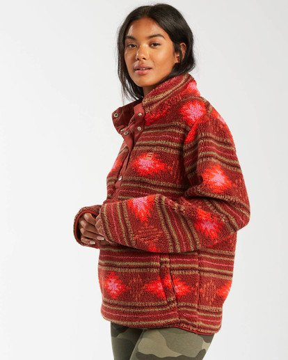 1 A/DIV Switchback Pullover Fleece Brown J6211BSW Billabong