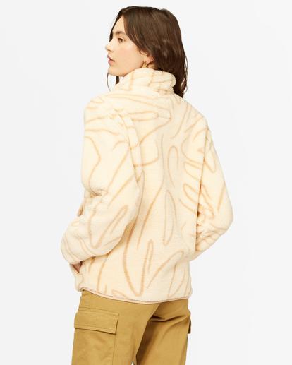 3 A/Div Switchback Mock Fleece Pullover Beige J6211BSW Billabong