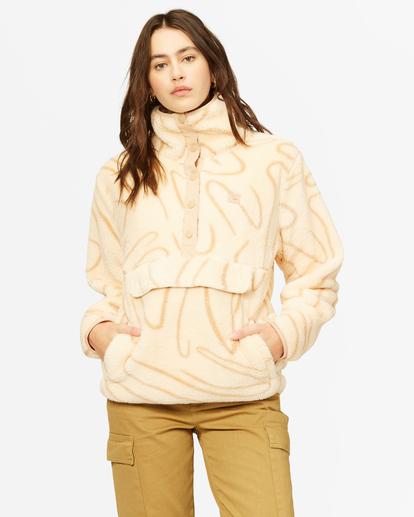 1 A/Div Switchback Mock Fleece Pullover Beige J6211BSW Billabong