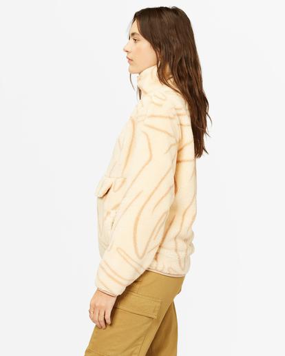 2 A/Div Switchback Mock Fleece Pullover Beige J6211BSW Billabong