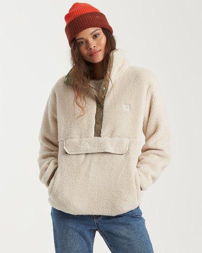 0 Switchback Pullover Fleece White J6211BSW Billabong