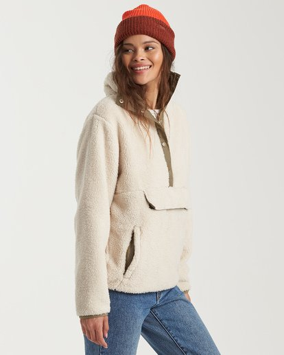 1 Switchback Pullover Fleece White J6211BSW Billabong