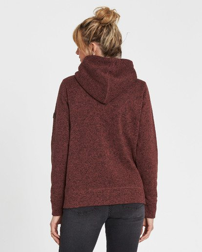 2 A/DIV Boundary Hooded Fleece Brown J623SBBO Billabong