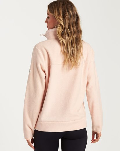 3 A/DIV Boundary Half-Zip Pullover Fleece Pink J624SBBO Billabong