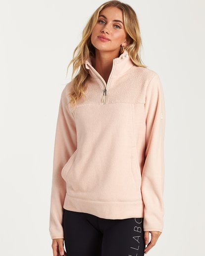0 A/DIV Boundary Half-Zip Pullover Fleece Pink J624SBBO Billabong