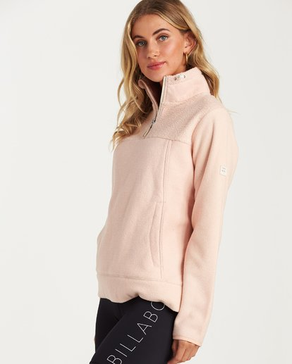 1 A/DIV Boundary Half-Zip Pullover Fleece Pink J624SBBO Billabong