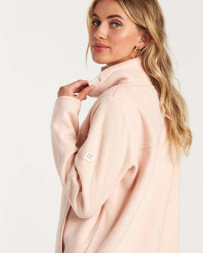 2 A/DIV Boundary Half-Zip Pullover Fleece Pink J624SBBO Billabong