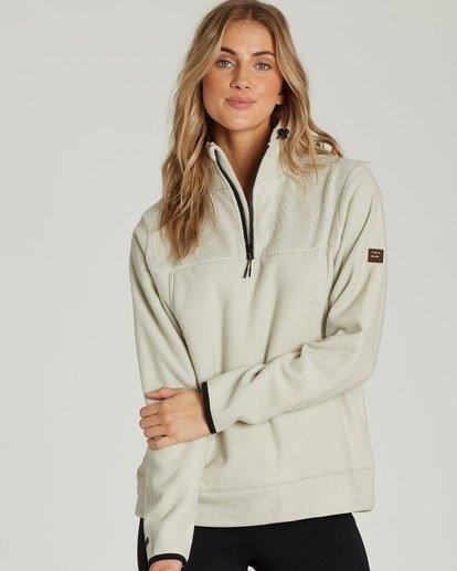 0 A/DIV Boundary Half-Zip Pullover Fleece Grey J624SBBO Billabong