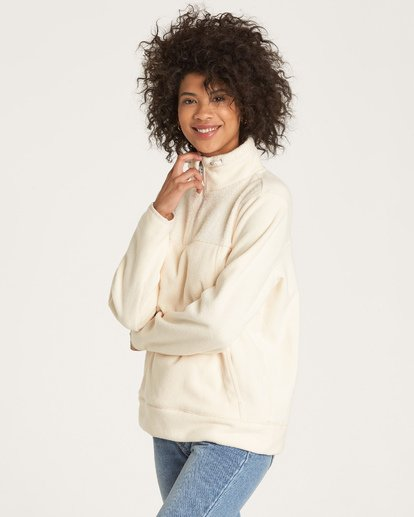 1 A/DIV Boundary Half-Zip Pullover Fleece White J624SBBO Billabong