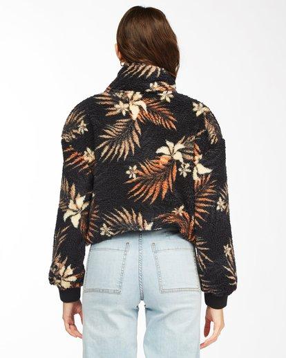 1 Time Off Half-Zip Fleece Pullover Black J6413BTI Billabong
