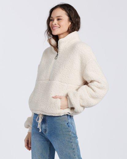 6 Time Off Fleece Pullover White J6413BTI Billabong