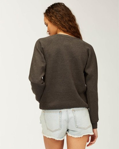 2 Florida Pineapple Love Sweatshirt Black J650PBPR Billabong