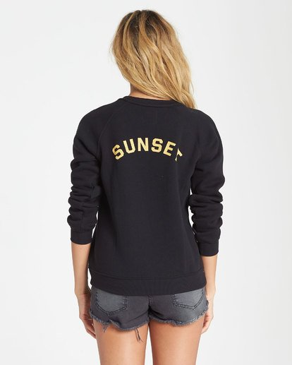 2 Sunrise And Sunset Fleece Sweatshirt Black J650SBSS Billabong