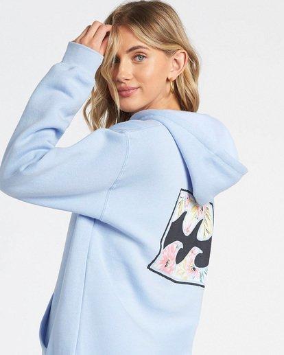 0 Flower Logo Fleece Hoodie Blue J6511FEC Billabong