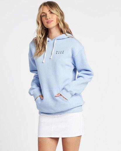2 Flower Logo Fleece Hoodie Blue J6511FEC Billabong