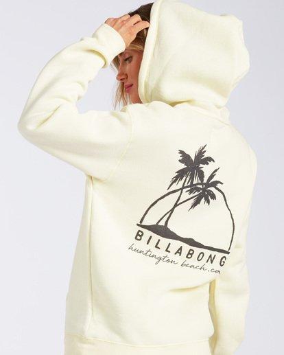 1 Huntington Beach Palm Horizon Hoodie Yellow J6511PHB Billabong