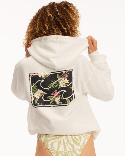 0 Flower Logo Hoodie White J6513FND Billabong
