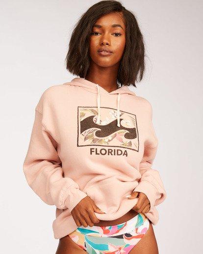 0 Florida Flower Hoodie Pink J651NFFL Billabong