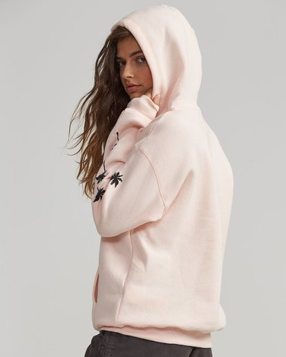2 Windy Palms Logo Hoodie Pink J651SBWI Billabong