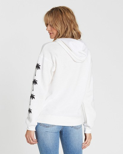 2 Windy Palms Logo Hoodie White J651SBWI Billabong