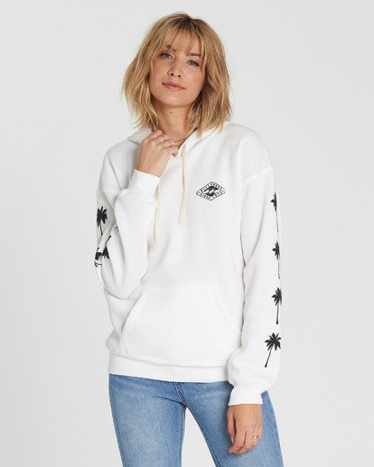 1 Windy Palms Logo Hoodie White J651SBWI Billabong