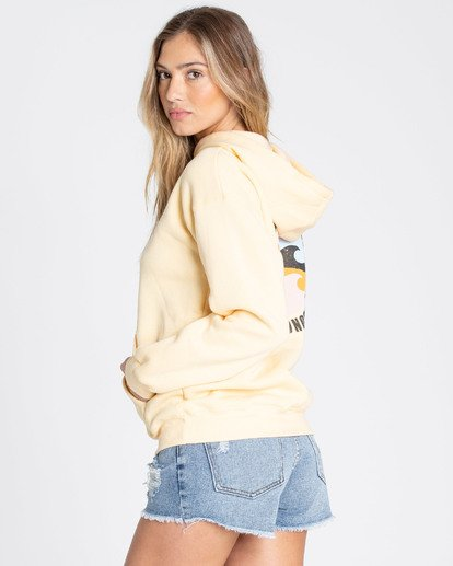 1 Beach Waves Hoodie Yellow J651TBBE Billabong