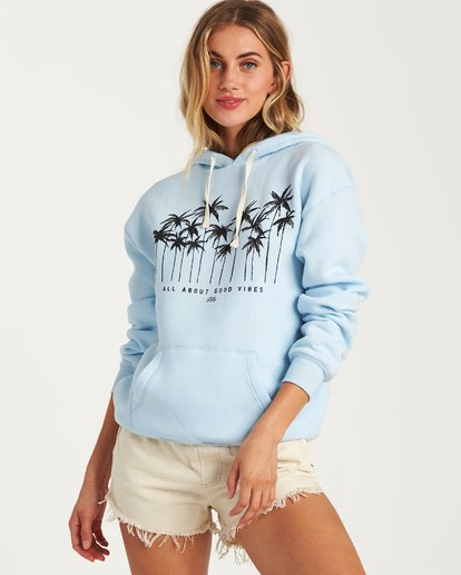 1 Good Vibes Hoodie Blue J651VBGS Billabong