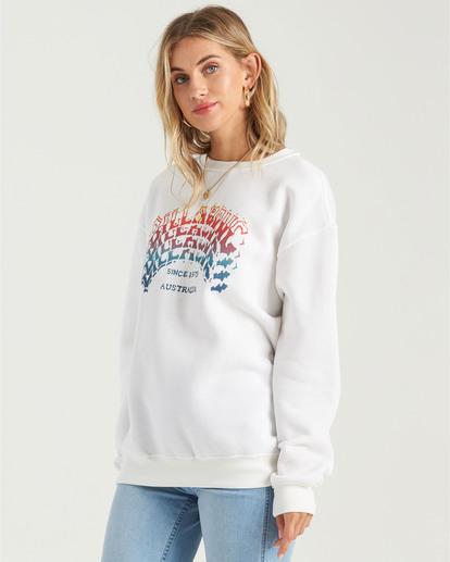 2 Heritage Arc Sweatshirt White J6523BHE Billabong