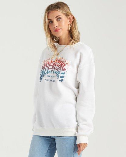 1 Heritage Arc Sweatshirt White J6523BHE Billabong