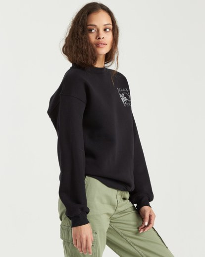 6 Local Surf Spot Sweatshirt Black J6523BLO Billabong