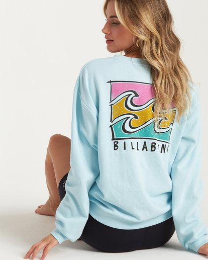 0 Beach Comber Crew Sweatshirt Blue J653WBBR Billabong