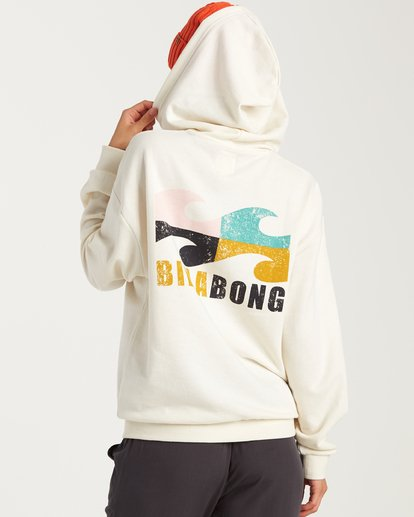 3 Beach Waves Hoodie White J654WBWR Billabong