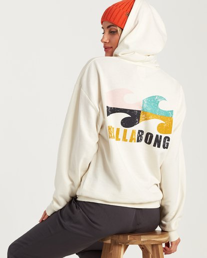 4 Beach Waves Hoodie White J654WBWR Billabong